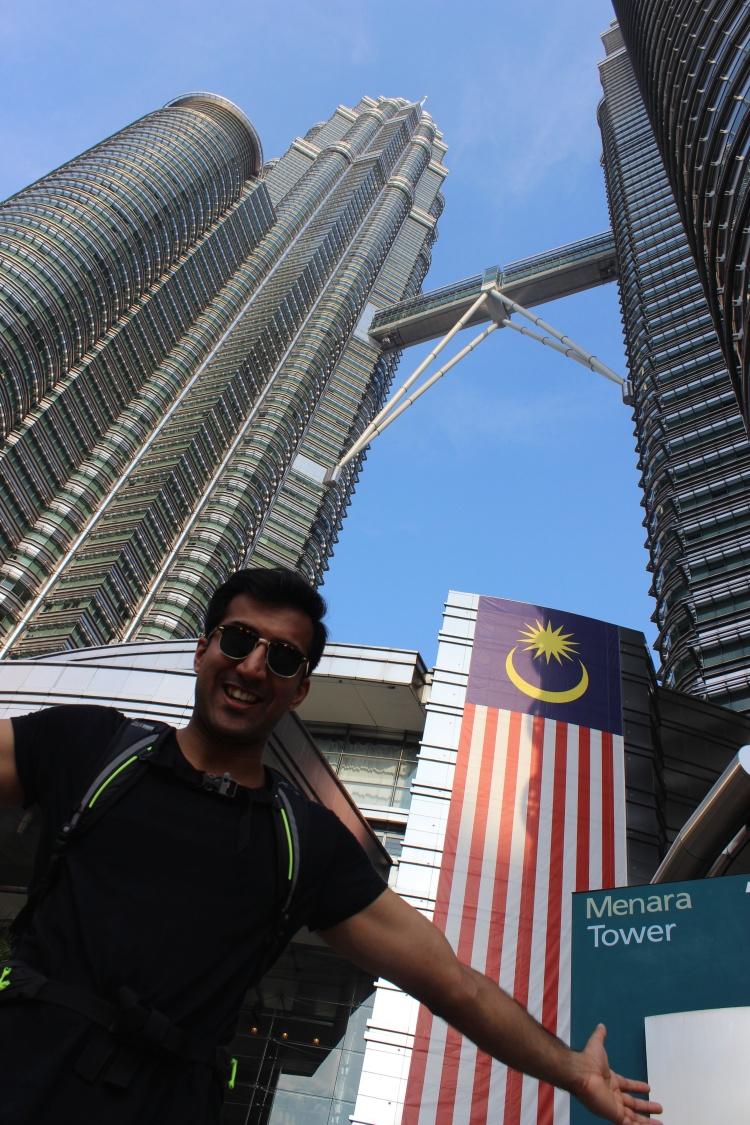 Next to Petronas Towers