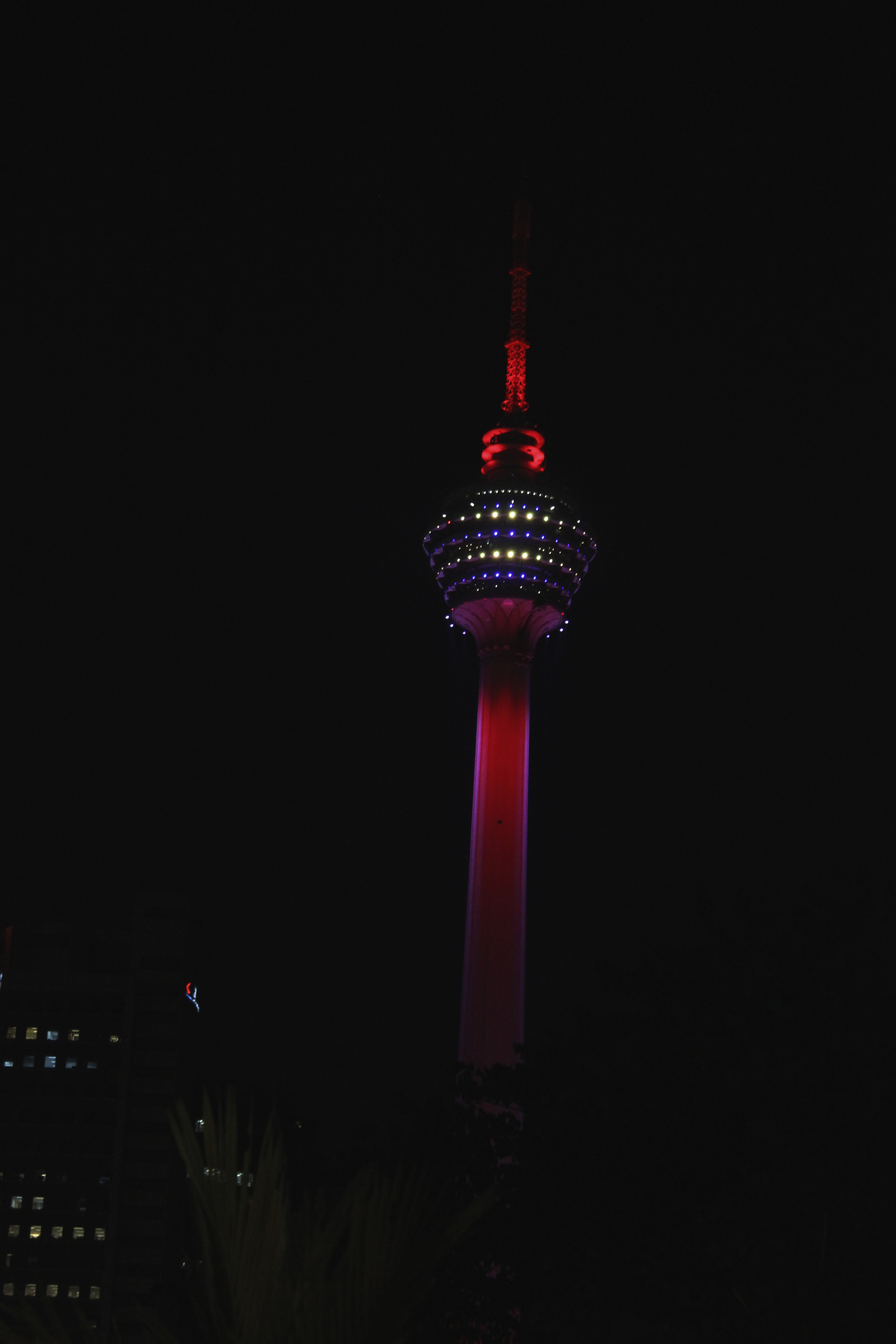 Skydeck KL tower at night