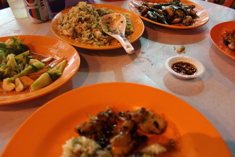Plates of malay food
