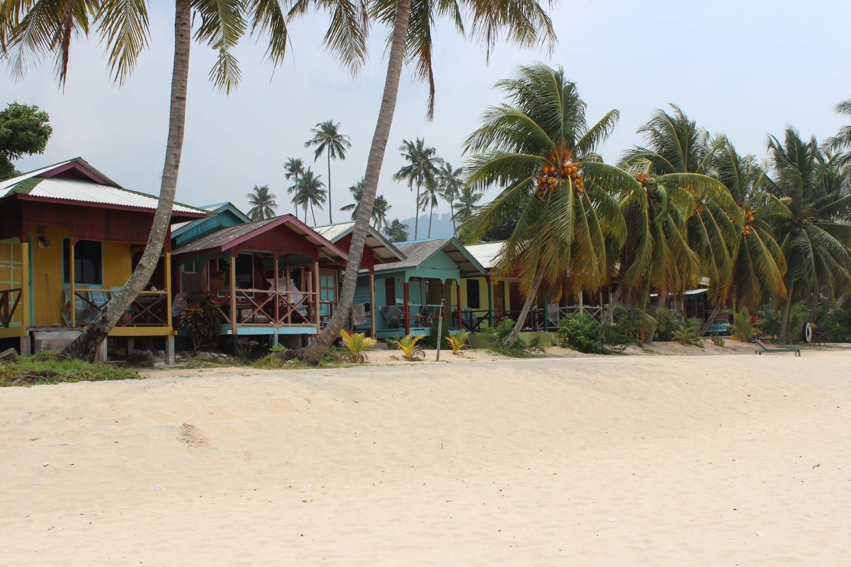 Huts on Juara beach, Malaysia.