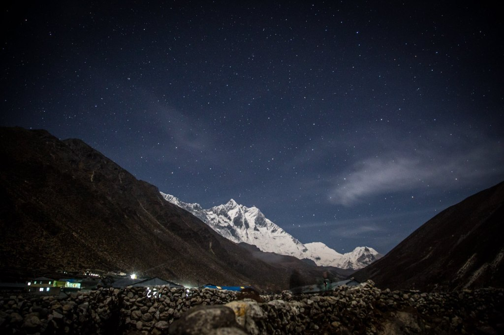 Lhotse in the night