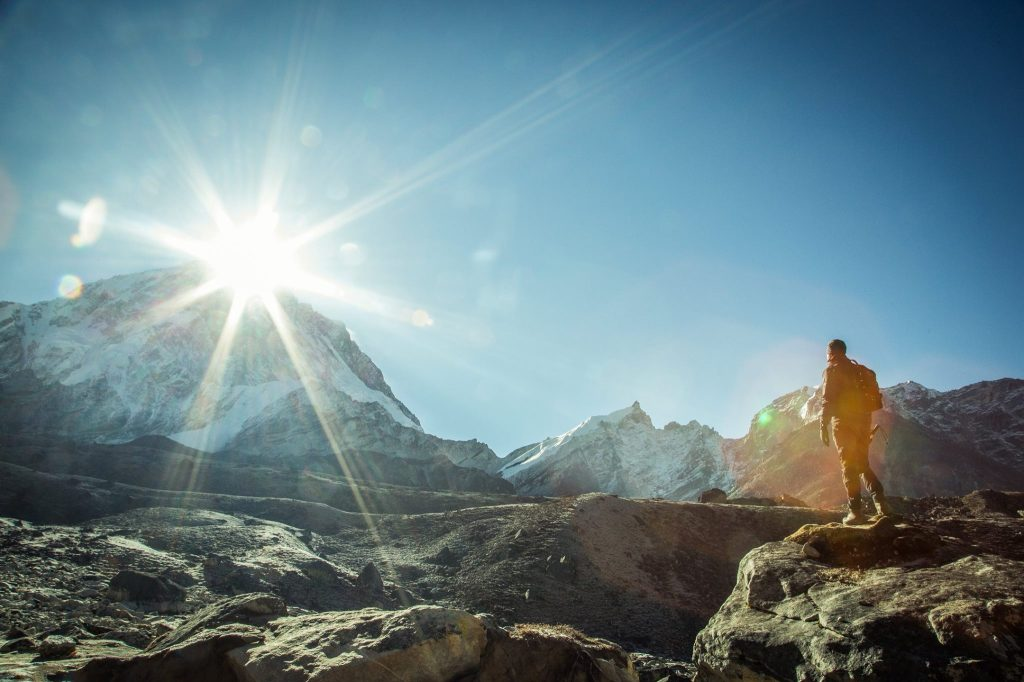 Sunrise over Lobuche