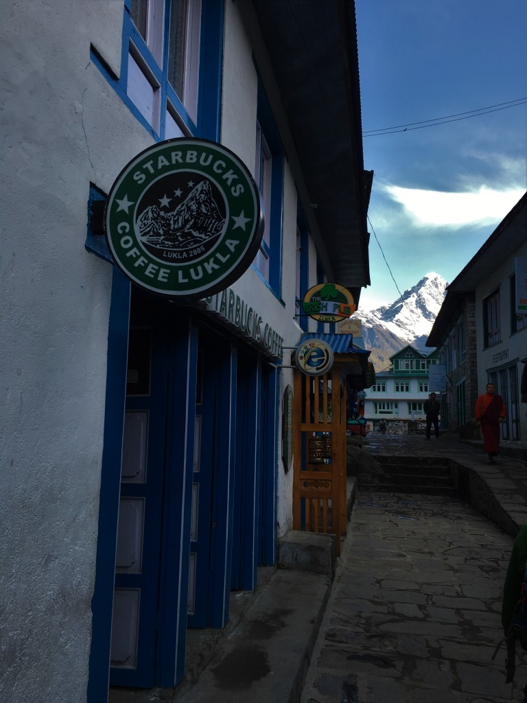 "Lukla coffee shops and ""starbucks"""