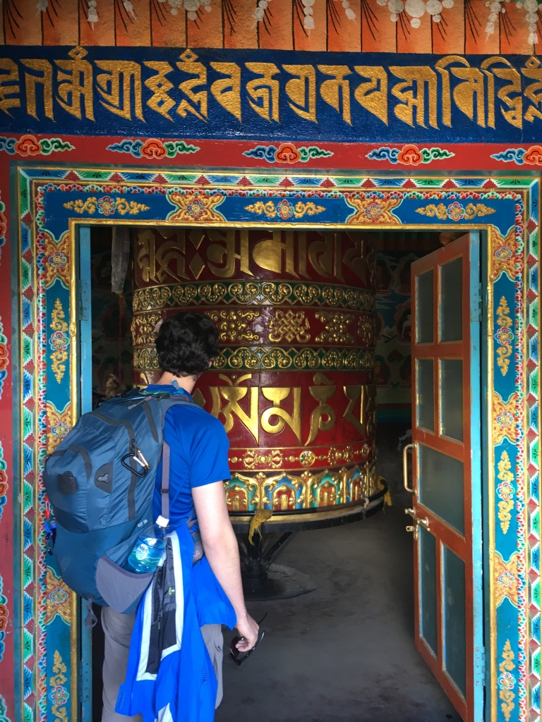 Large prayer wheel in Lukla