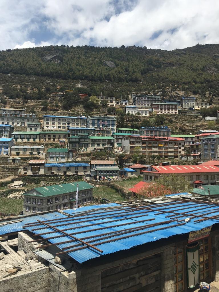 Various buildings of Namche Bazaar