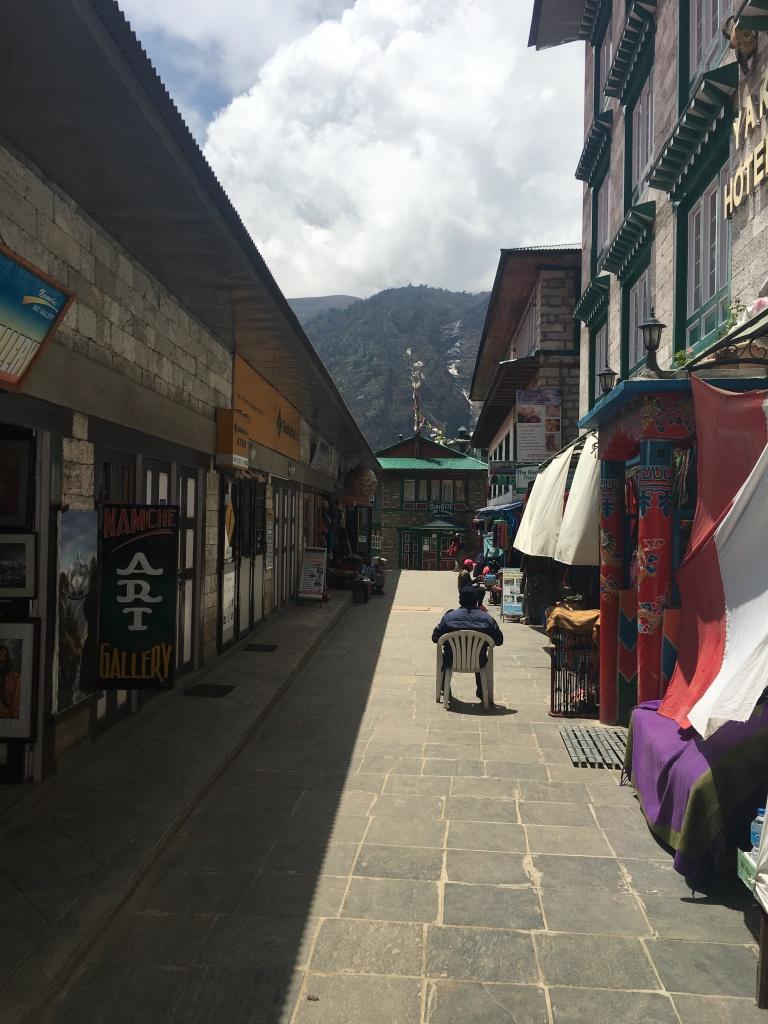 Shops in Namche Bazaar