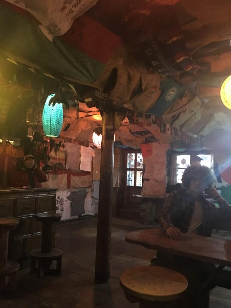Inside of restaurant Namche Bazaar
