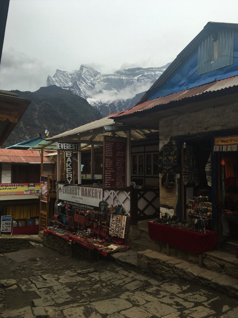 Bakery in Namche Bazaar called Everest Bakery