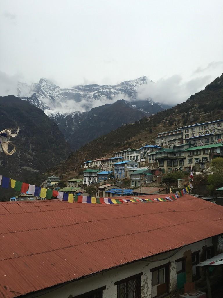 Namche Bazaar overlooking mountains