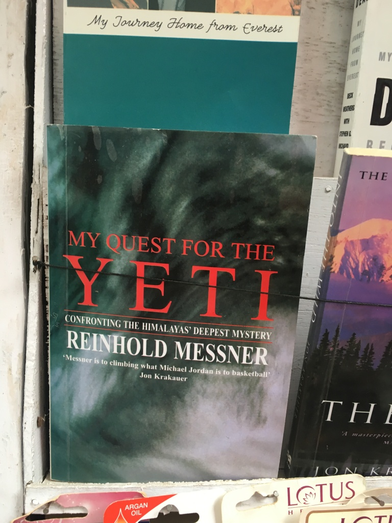Reinhold Messner's book on the Yeti My quest for the Yeti