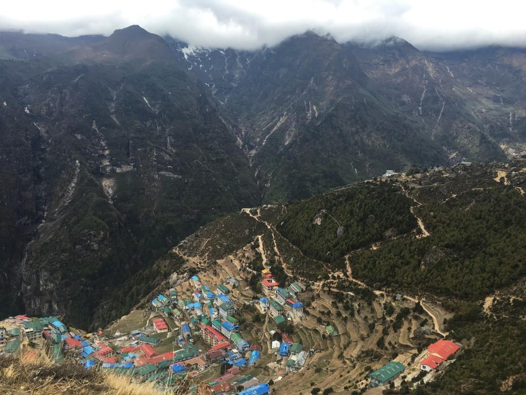 Namche Bazaar top view