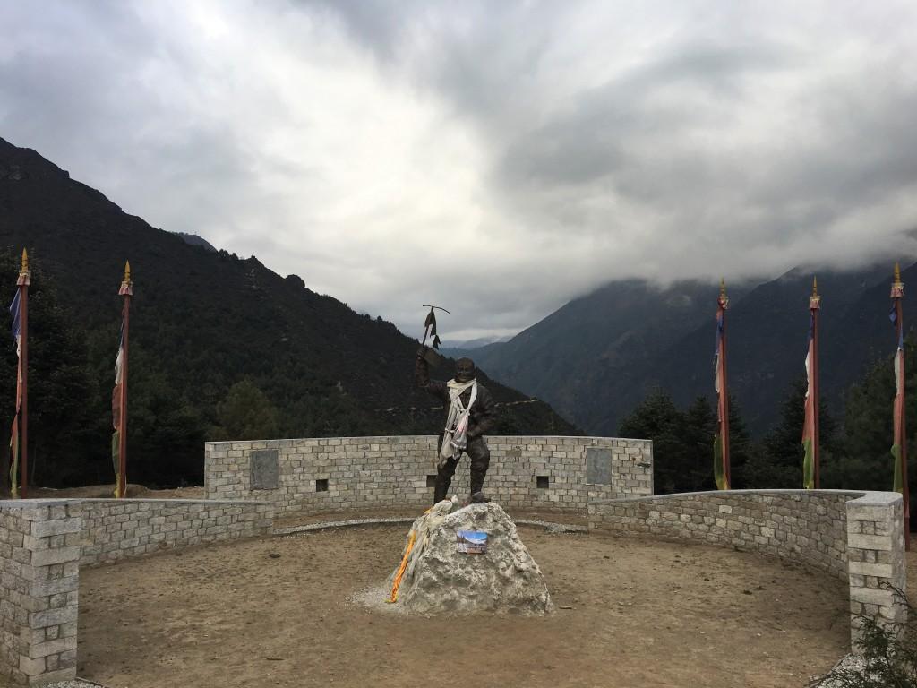 Statue of Tenzing Norgay in Namche Bazaar