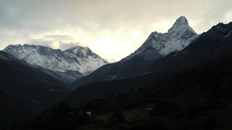 Ama Dablam, Lhotse from Tengboche