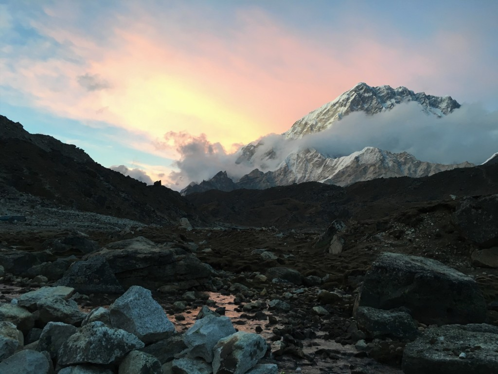 Mount Lobuche at sunset