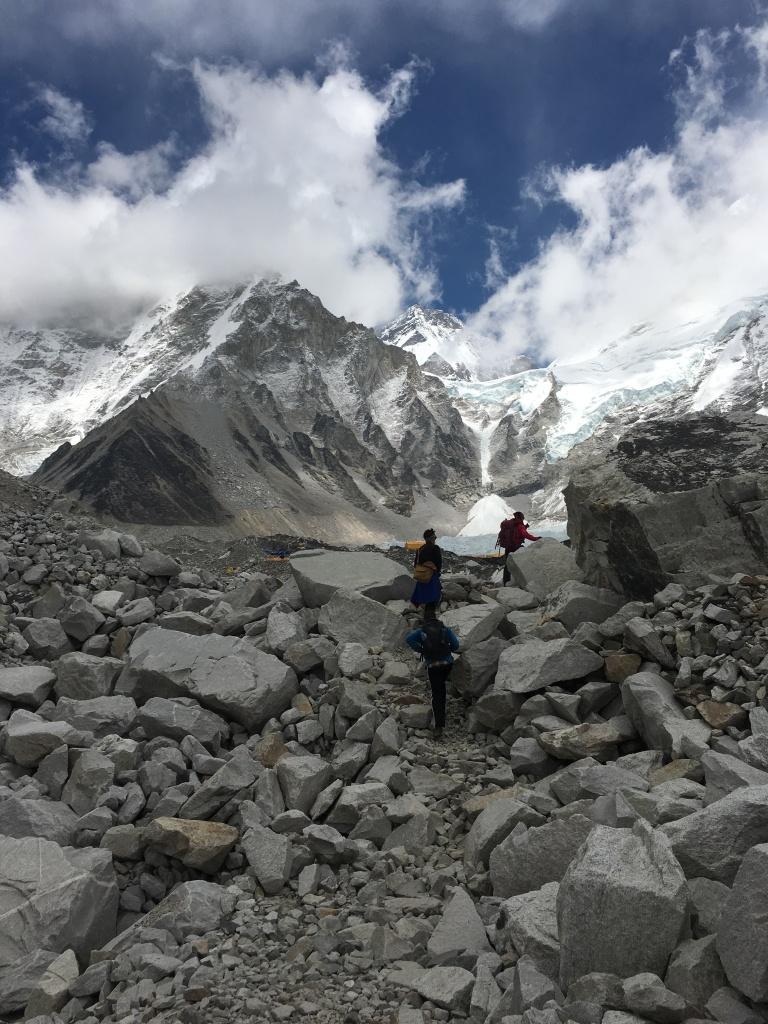 Entering Everest Base Camp