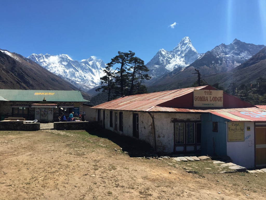 Bakery with a view of Ama Dablam, Lhotse and Everest