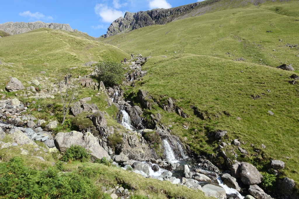 Stream waterfall formed by Scafell Pike