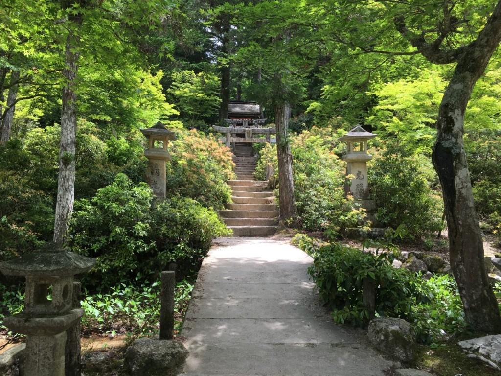 Steps marking the beginning near a shrine